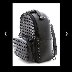 NWT Authentic Kolet Studded Leather Med Backpack